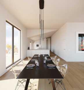Luxus Essbereich mit Blick in die Küche