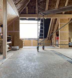 Dachgeschossausbau im Bauzustand