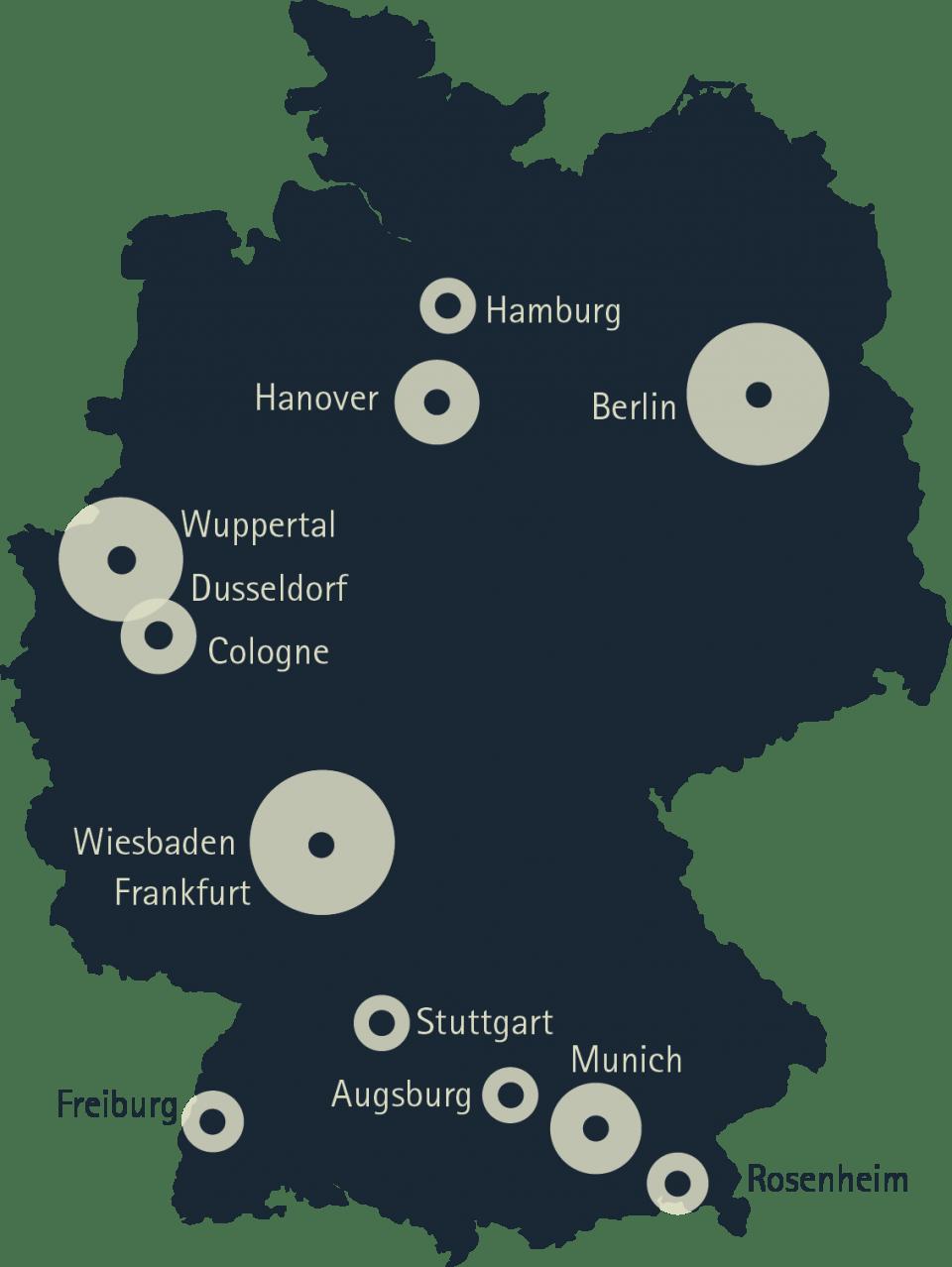 Deutschlandkarte Standorte en